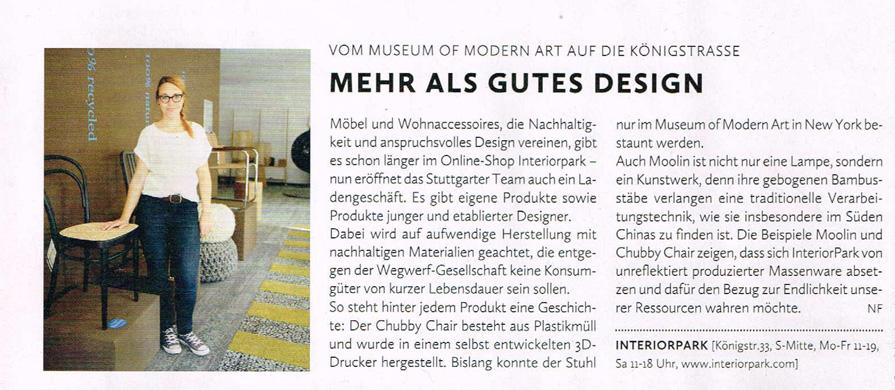 Lift Magazin über Store Stuttgart
