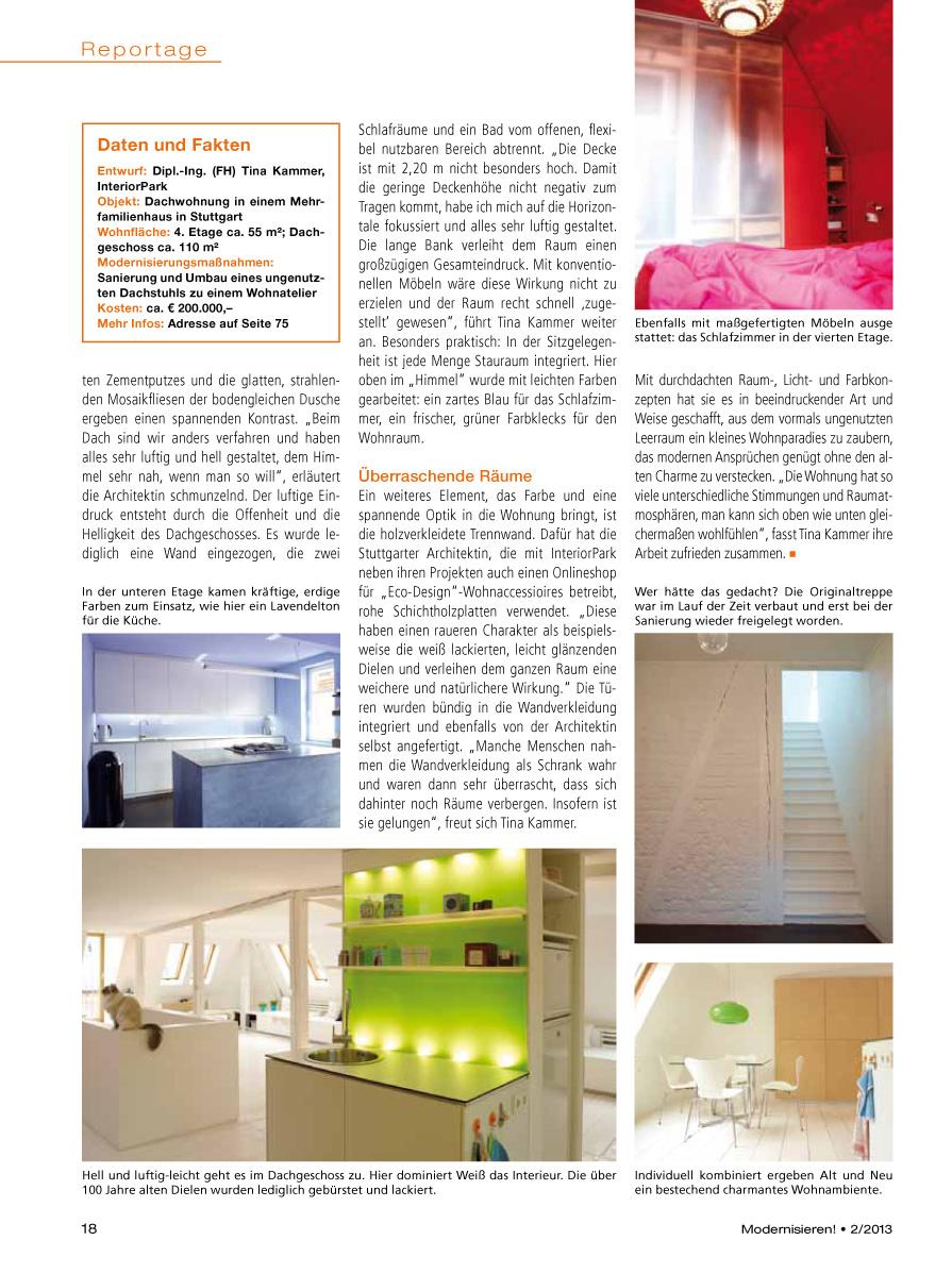 Magazin Modernisieren über InteriorPark. Projekt