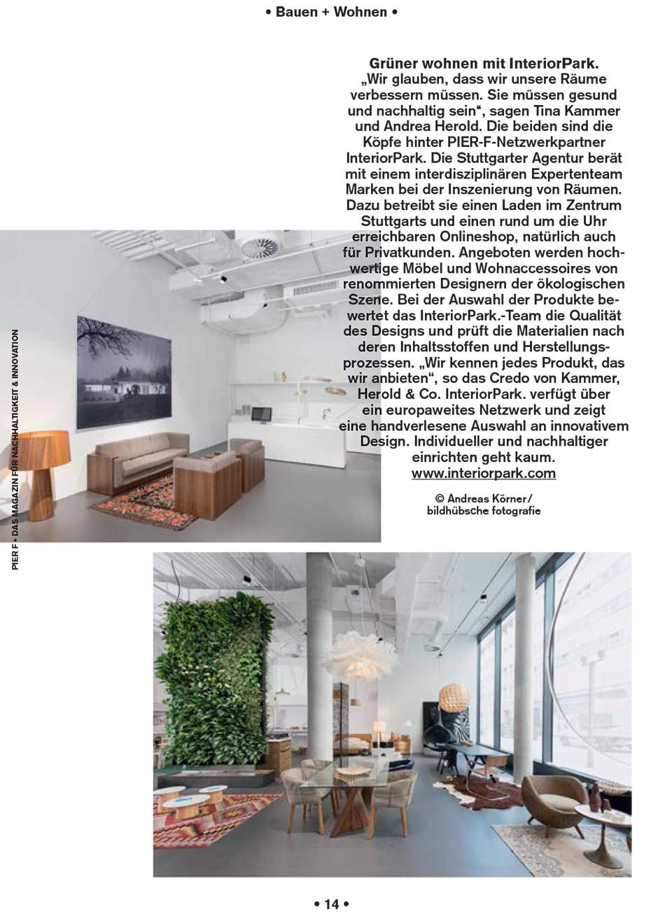 Pier F Magazin über InteriorPark.