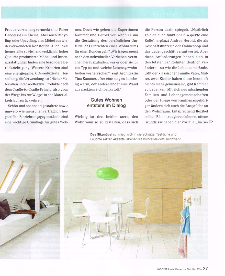 interview ko test magazin zu eco design interiorpark. Black Bedroom Furniture Sets. Home Design Ideas