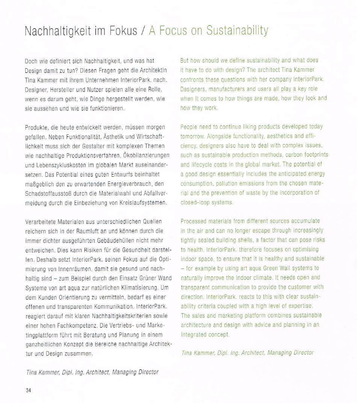 Artikel InteriorPark. im Infomagazin Shop Green von artaqua